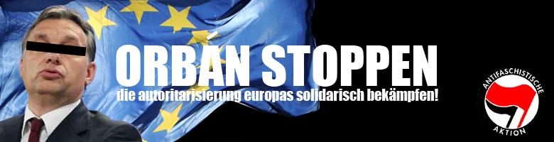 Banner von Orban-Stoppen